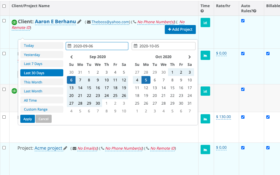 Automatic Time Capture for Quickbooks Users